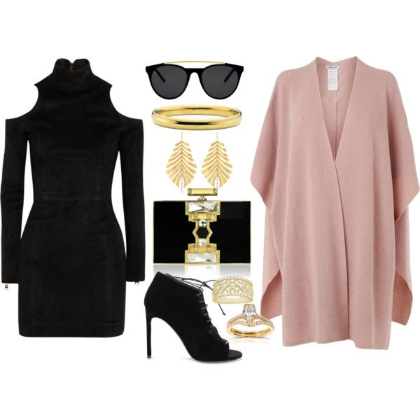How tp...Balmain with style by vicky-angelidou-pappas on Polyvore featuring Balmain, L.K.Bennett, Yves Saint Laurent, Judith Leiber, Hueb, Annello and Smoke x Mirrors