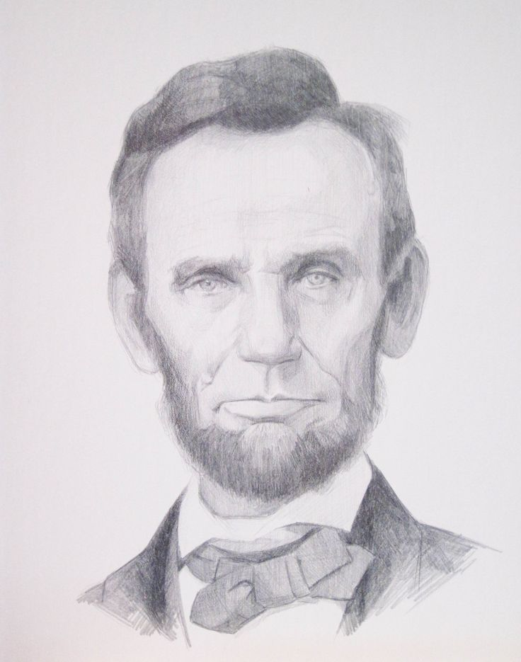 Lincoln- Lisa Gleim. 9.5 x 8.5 inches.   silverpoint on paper