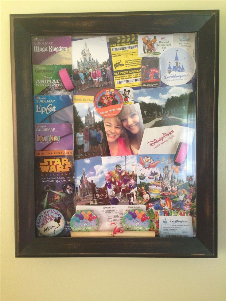 Disney shadow box from our family vacation