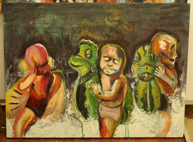 """Floaties"" 2013, Oil on canvas"