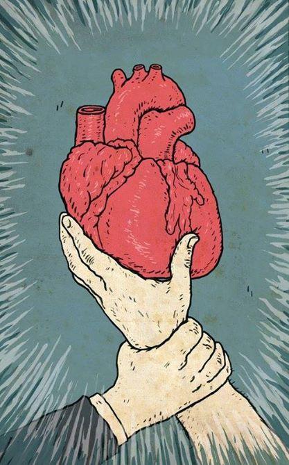 con el corazon en la mano!