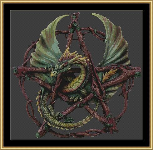 needlepoint pentacle - Google Search