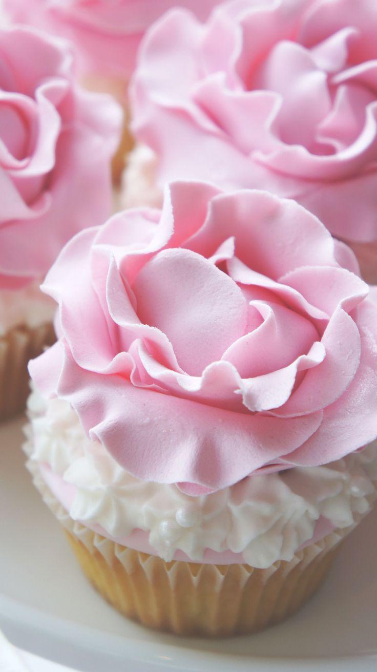 Rose cupcakes for a  Beach Wedding