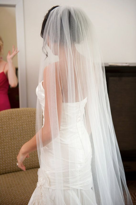 Wedding Veils Long Cathedral Veil Ivory By BridalStar 3500