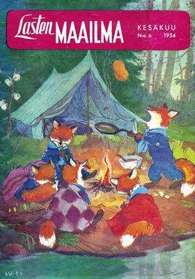 Lasten maailma -magazine 1954, cover by Maija Karma
