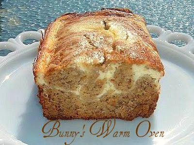 Bunny's Warm Oven: Banana Cream Cheese Bread...it's made with Cream Cheese and Sour cream.  Delicious!