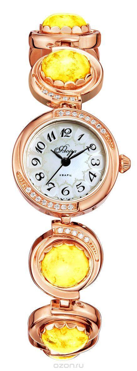 Часы женские наручные Mikhail Moskvin Флора, цвет: золотистый. 1138B8B1 Кош. гл. жел.