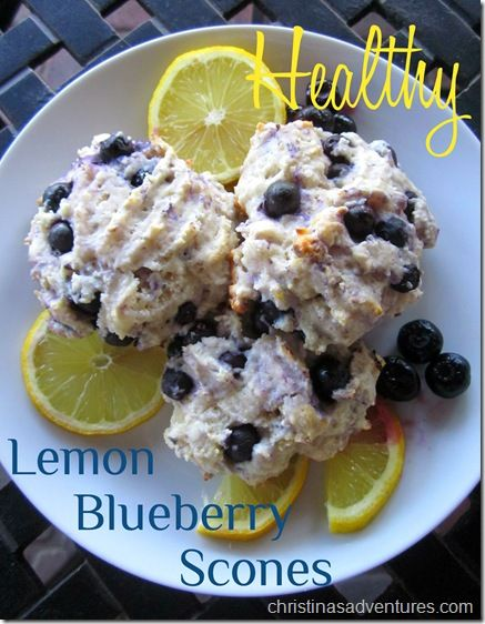 Healthy easy blueberry lemon scones - 3 Weight Watchers points each - under 150 calories each!