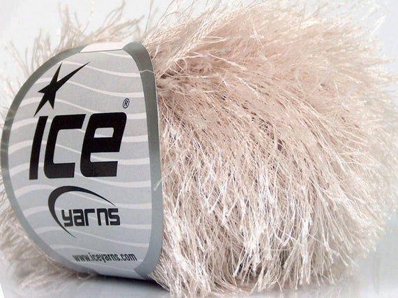 Light Brown Eyelash Yarn 50637 Ice Fun Fur 50gr 82 yds