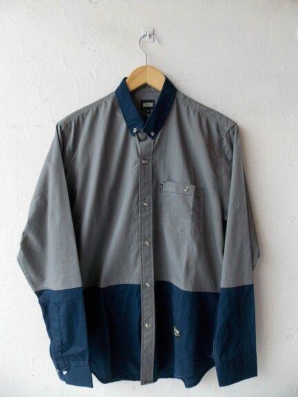 "Long shirt ""OS.04.14.1003"" Olten in Navy blue Gray - http://bit.ly/rbck2015"