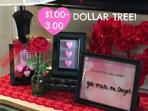 ||| TODAYS VIDEO ||| $... DOLLAR TREE DIY |VALENTINE'S DAY PICTURE FRAMES Materials I used: I love you because… Dollar Tree 8x10 Black picture frame - $... Hobby Lobby Faded hearts scrapbook - $... Dry Erase marker had on hand – you can purchase one....