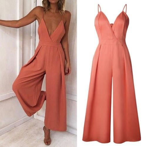 Long Pants Sleeveless Ladies Womens Jumpsuits Clothing Women Clubwear Summer Playsuit Bodycon Party Jumpsuit Romper Trousers 2