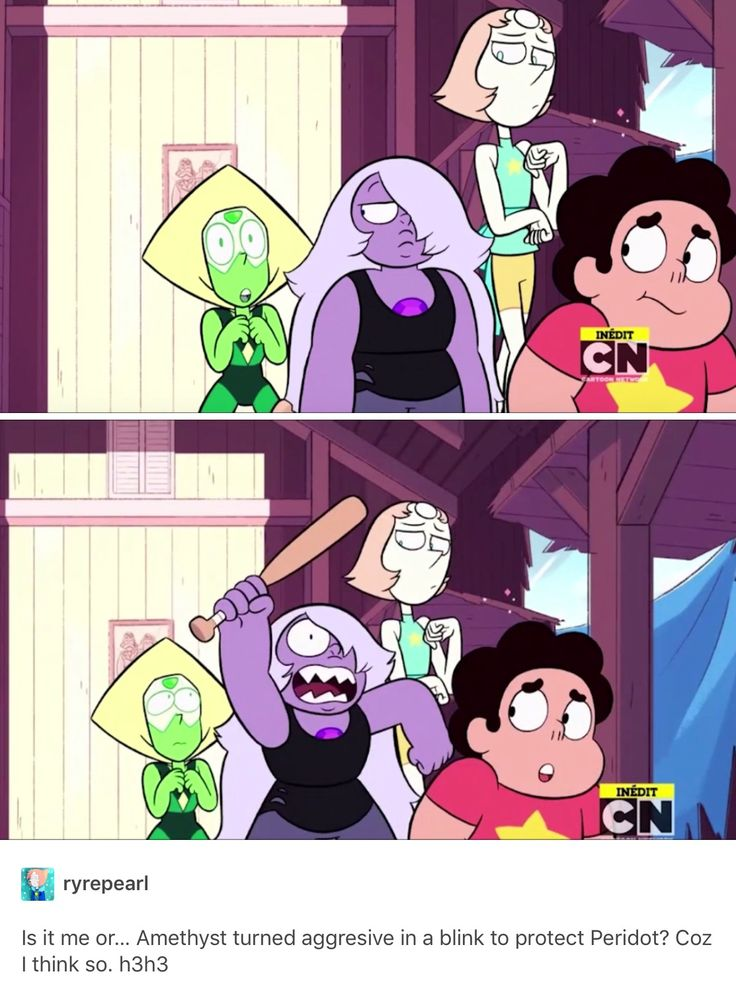 "Look at Pearl's face too, it's like ""This cannot be what's happening right now."""