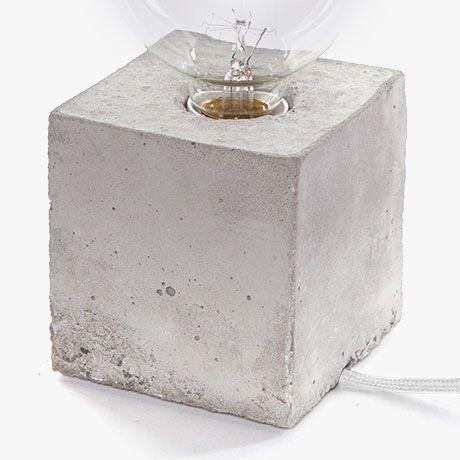 Alpha Concrete Lamp - Grey/Wht | LJ Lamps