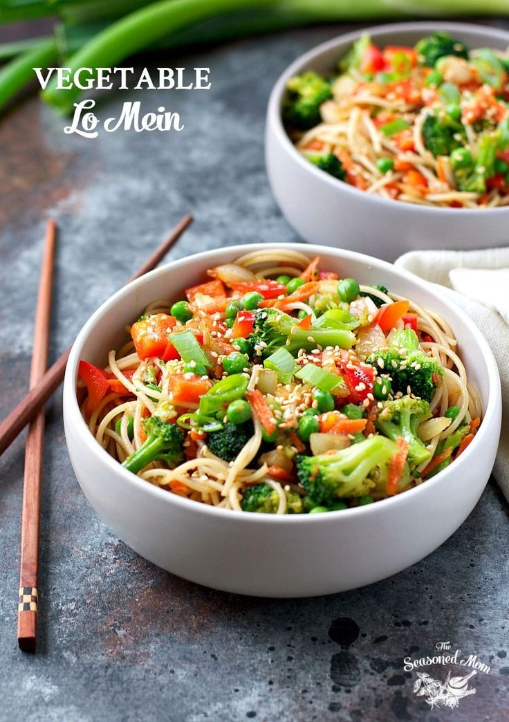 You only need 20 minutes to toss together this Vegetable Lo Mein for a healthy side dish or a satisfying vegetarian entree!