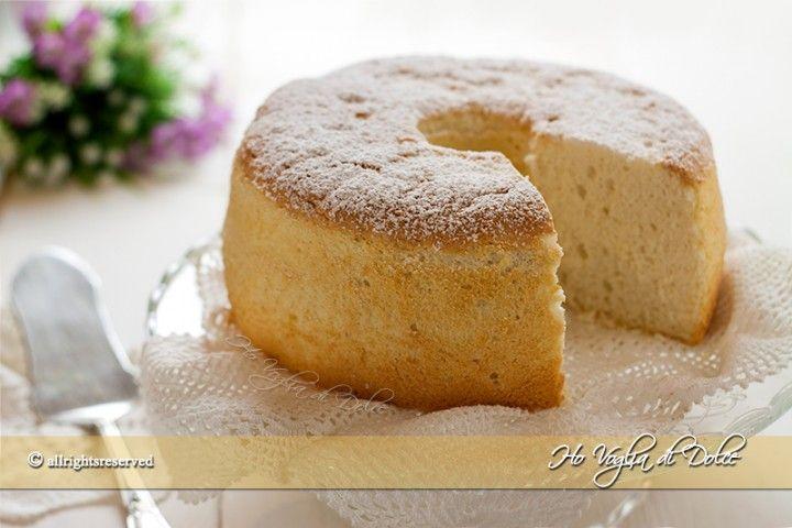 Angel food cake - torta americana con solo albumi