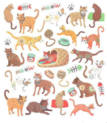 Stickers - Cats Bones Paws