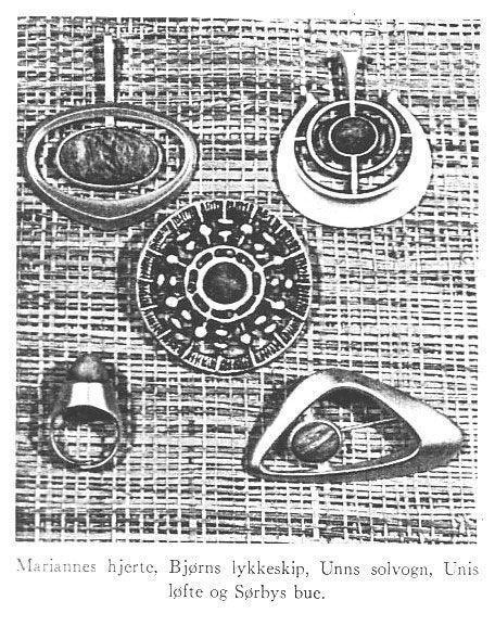 Photo from the Norwegian magazine Gullsmedkunst (Art of Silversmithry), 1964, ring 'Uni's Promise' by Uni David-Andersen.