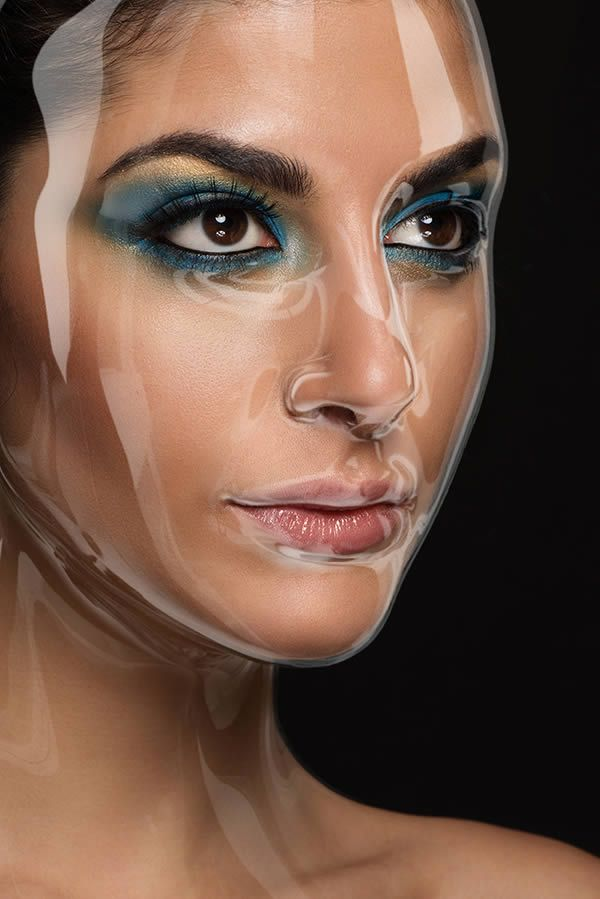 Final Image - How to Apply a Plastic Mask Effect to a Portrait