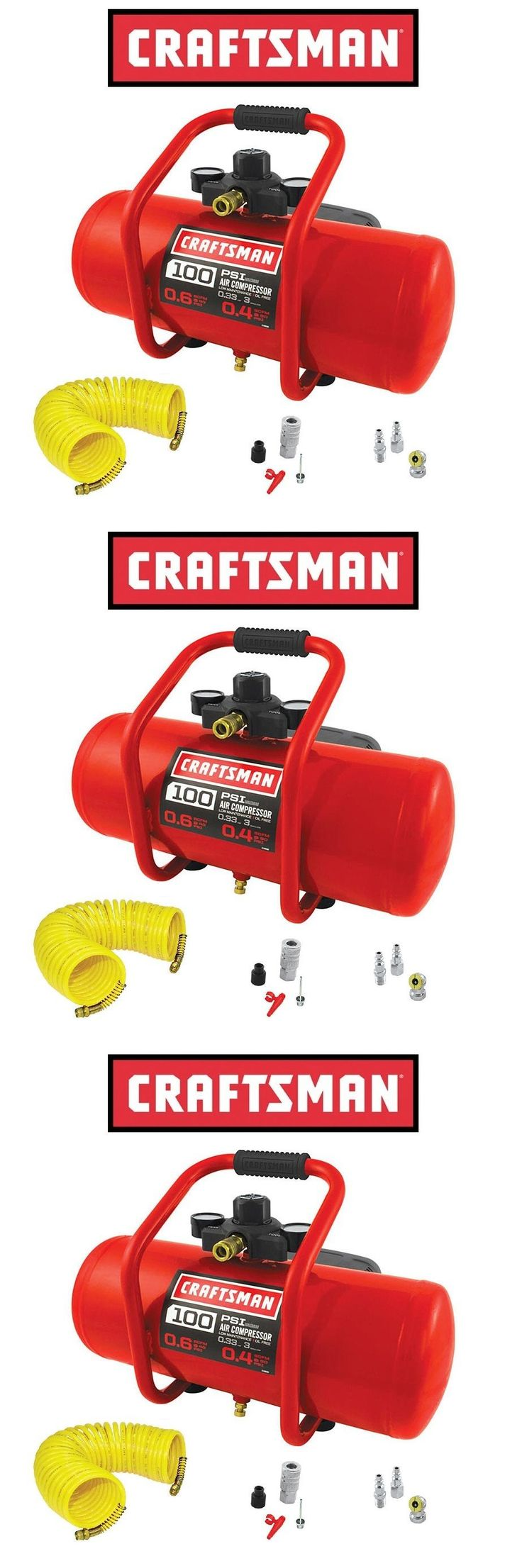 Air Compressors 30506: Craftsman 3 Gallon Portable Electric Air Compressor Tank + 25 Hose Kit Tire -> BUY IT NOW ONLY: $78.99 on eBay!