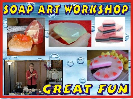 We share fun and hands on creativity classes at our showroom and around Victoria with great tutorials in Soap Making