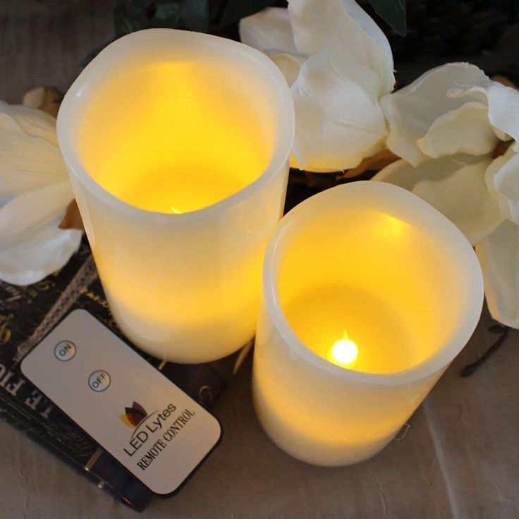Led Lytes Flameless Candles Battery Operated With Remote