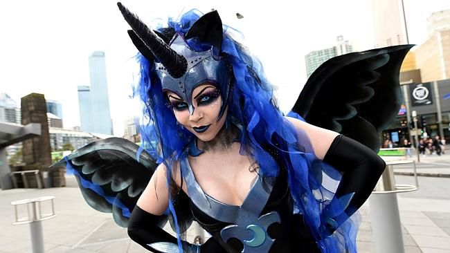 Miss Twisted as Nightmare Moon.