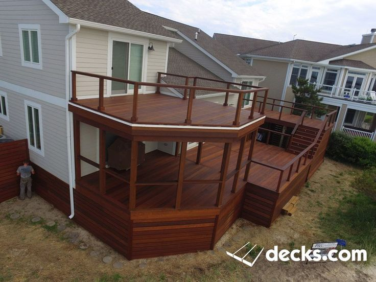 a 1400 square foot multi level ipe deck complete with 1200