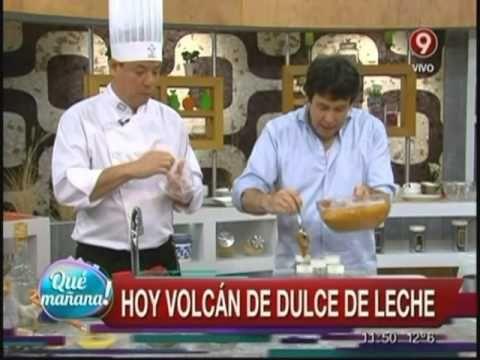▶ El postre de hoy: Volcán de dulce de leche - YouTube