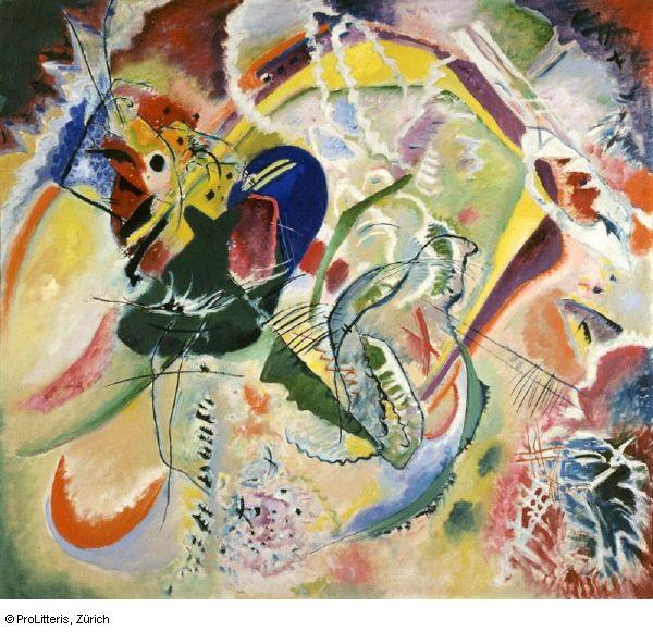Wassily Kandinsky, Improvisation 35, 1914, Ol auf Leinwand, 110.3 x 120.3 cm, Kunstmuseum Basel