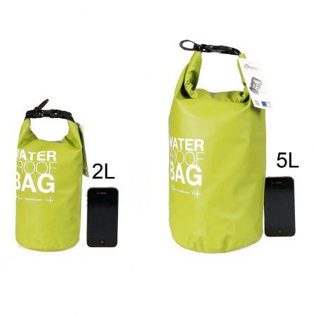 SehrGo Dry Tube Waterproof Bag, Perfect for Kayaking, Boating, Floating, Swimming, Water Sports (Pistachio Green, 2L)