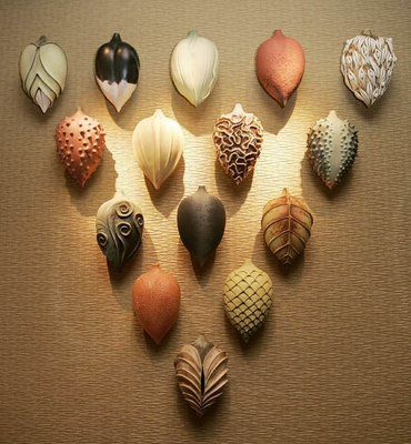 Alice Ballard - series of textured clay pods