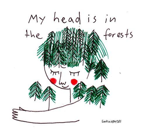 saskiakeultjes: Today: day dream a mood drawing by Saskia Keultjes facebook Instagram shop