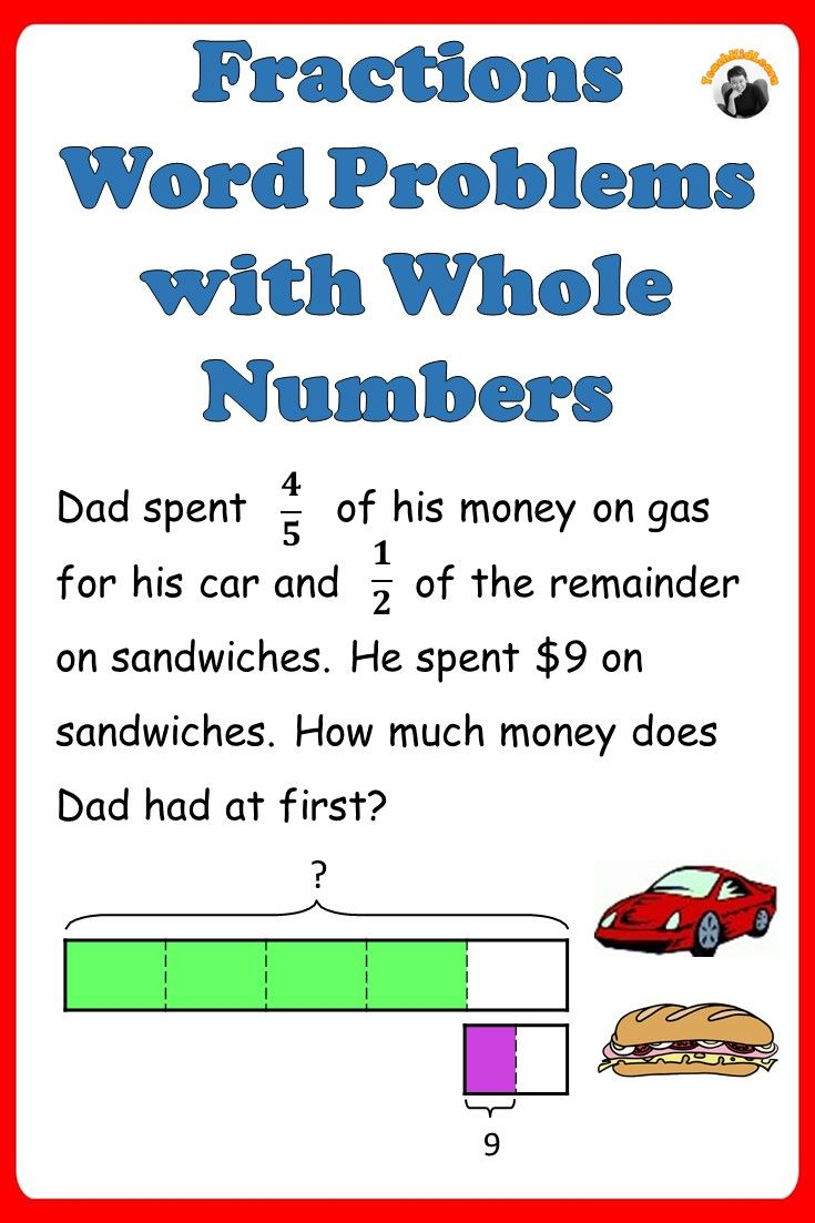 Fractions Worksheets 4th 5th Grade   Fraction word problems [ 1103 x 735 Pixel ]
