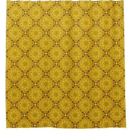 Marigolds Kaleidoscope Vintage  Shower Curtain - stylish gifts unique cool diy customize