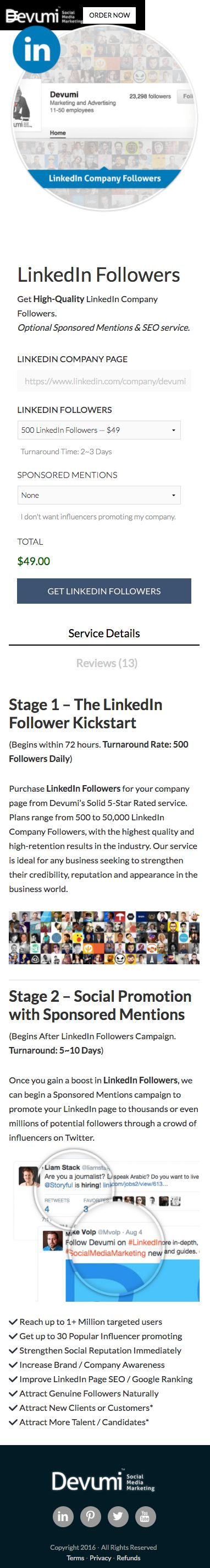 Buy LinkedIn Connections to jumpstart your LinkedIn success!