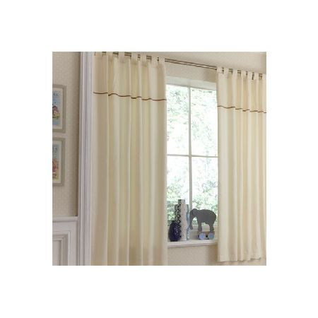 IzziWotNot Tab Top Curtains-Cream Gift These smart tailored curtains create five star style in the nursery. Delightful subtle waffle textures combine with ribbed pique cottons panels, edged with velvet ribbon trims for understated elegance http://www.MightGet.com/march-2017-1/izziwotnot-tab-top-curtains-cream-gift.asp