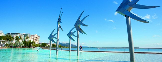 Cairns:- From this stylish international city, the islands, rain-forest and reef of tropical North Queensland are at your doorstep. Snorkel, dive or do a day trip to the Great Barrier Reef – a World Heritage-listed spectacular of coral islands and marine life.