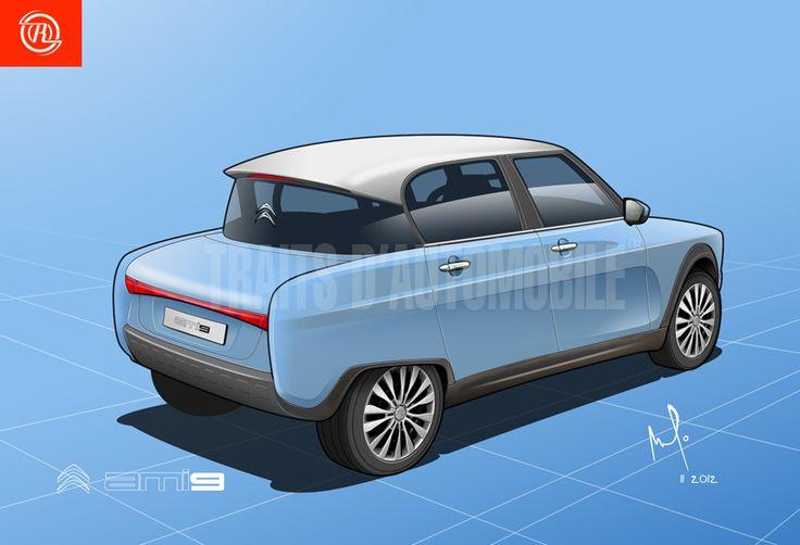 Citroen Ami 6 revival rear by Amaury de R