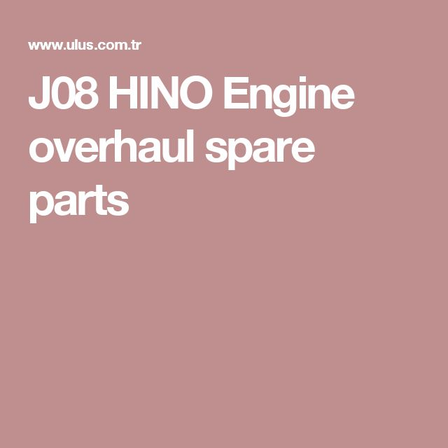 J08 HINO Engine overhaul spare parts