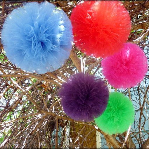 Tulle Pom Poms Ball Centerpiece, 4-pack
