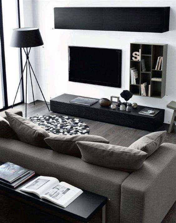Wohnzimmer-Innenausstattung für Männer