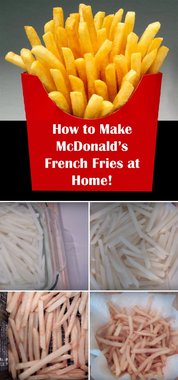 How to Make McDonald's Fries at Home!