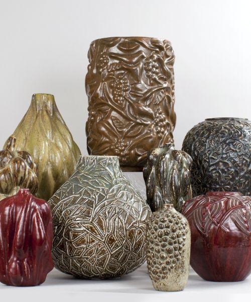 Axel Salto ceramic vases for Royal Copenhagen Denmark