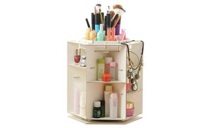 Show off your favourite accessories and keep them neat with the wooden rotatable jewellery storage organiser