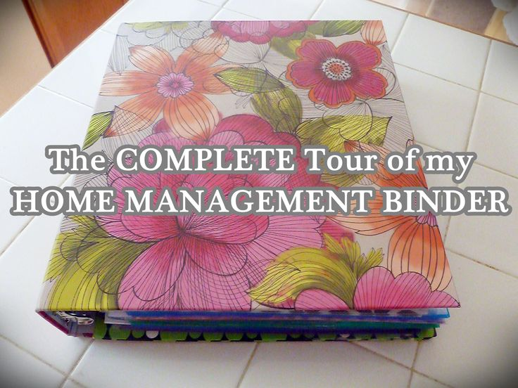Home Management Binder: OH MY GOSH!  Talk about organized! If I could be organized just a fraction of this binder, that would be FABULOUS!