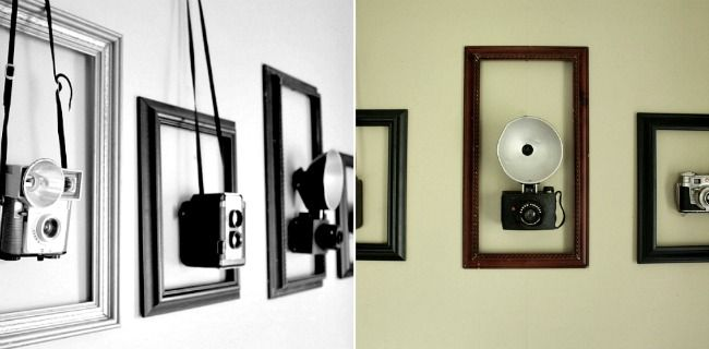 Cool way to display old cameras!