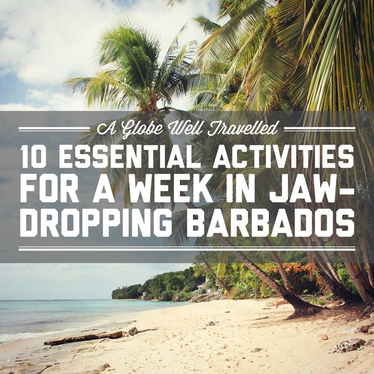 10 essential activities for a week in jaw-dropping Barbados / A Globe Well Travelled