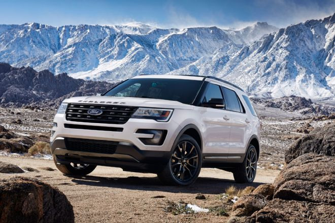 2017 Ford Explorer. Called the XLT Sport Appearance Package, this new option for the 2017 Ford Explorer SUV adds some sporty trim inside and out, but without the mechanical upgrades of the full Sport model.