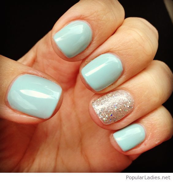 17 Best Ideas About Light Blue Nail Polish On Pinterest